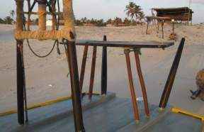 A jangada's steering bench.
