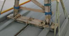A jangada's Carlinga or mast step